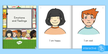 Emotions and Feelings Emergent Reader eBook - happy, sad, angry, excited, surprised, confused, worried, all about me, emergent reader, guided read