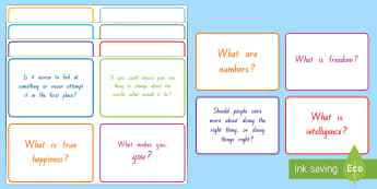 Philosophy Question Cards - philosophy, Years 1-6, new zealand, question cards, P4C, philosophy for children
