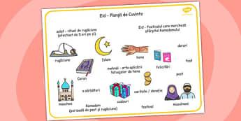 Despre Islam - Planșă cu imagini și cuvinte - despre Islam, Islam, cartonașe, țări, lume, tradiții, obiceiuri, materiale, materiale didactice, română, romana, material, material didactic