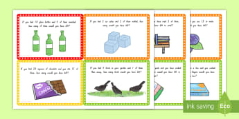 Subtraction Word Problem Challenge Cards - New Zealand Maths, subtraction, word problems