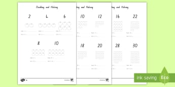 Doubling and Halving Activity Sheet - New Zealand, maths, doubling, halving, numbers to 20, Years 1-3