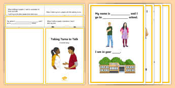 Taking Turns to Talk Social Situation - story, stories, Interrupting, talking, rude,