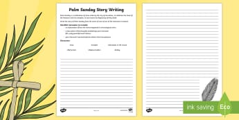 KS2 Palm Sunday Character Story Writing Activity Sheet - KS2 Easter 2017 (16th April), Easter, Palm Sunday, Jesus, Holy Week, story writing frame, story writ