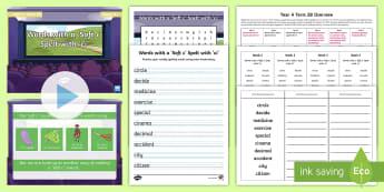 Year 4 Term 2B Week 3 Spelling Pack - Spelling Lists, Word Lists, Spring Term, List Pack, SPaG