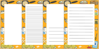 Pancake Day Decorative Page Border - pancake day, page border