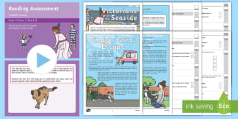 Year 2 Term 2 Paper 2 Reading Assessment Bumper Resource Pack - Year 2, Y2, reading, SATS, SAT, booklet, assessment, assess, KS1, fiction, non-fiction, review, pape