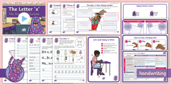 The Journey to Cursive: The Letter 'x' (Zigzag Monster Family Help Card 4) KS1 Activity Pack Activity Pack - cursive, handwriting, joined, legible, fluent, penpals, nelson handwriting, letterjoin, handwriting