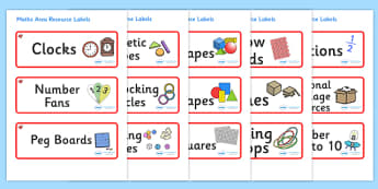 Ruby Red Themed Editable Maths Area Resource Labels - Themed maths resource labels, maths area resources, Label template, Resource Label, Name Labels, Editable Labels, Drawer Labels, KS1 Labels, Foundation Labels, Foundation Stage Labels, Teaching La