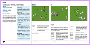 KS1 Football Skills 4 Turning Lesson Pack - football, PE, sport, exercise, KS1, year 1, year 2, skills, physical education, ball skills, team sports