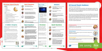 UKS2 60-Second Reads: Christmas Activity Pack - Ninety Words Per Minute, Speed Read, Sixty Second Reads, Assessment, Reading, Timed Reading