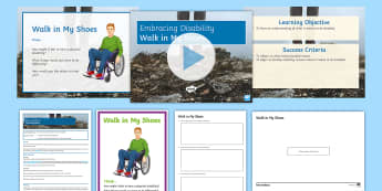 Embracing Disability: 'Walk in My Shoes' Discussion Teaching Ideas - Disability, Disability Awareness, Awareness, Raising awareness, Discrimination