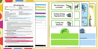 EYFS What Character Am I? Adult Input Plan and Resource Pack to Support Teaching on The Enormous Crocodile