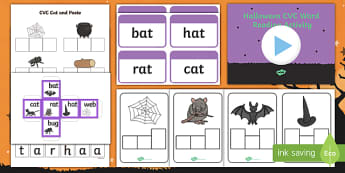 Halloween Themed CVC Words  Activity Pack