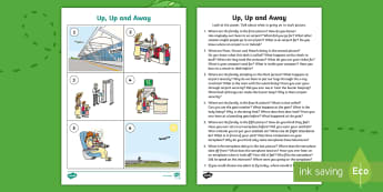 Up, Up and Away Oral Language Activity Sheet - aistear, exploring my world, story, worksheet, literacy, oral languages, airport, travel, aeroplane,