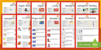 Chinese New Year Craft Activity Pack for 2-4 Year Olds - CNY, year of the, festivals, celebrations, art, Design, animals, EAD, Art and Design, Chinese Lanter