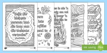 Klaskamer Inspirasie Spreuke Inkleur bladsye - fynmotories, potlode, kryte, kreatief, vertoon, positief