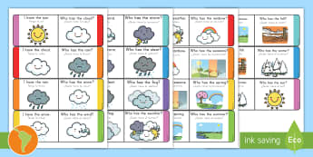 Weather Loop Cards US English/Spanish (Latin) - Weather Loop Cards - weather, loop cards, loop, cards, activity, waether, WHEATHER, wetaher, weaher,