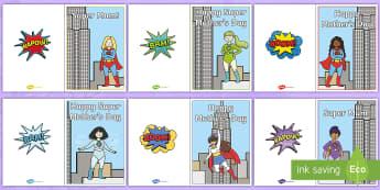 Superhero Mother's Day Cards - superhero, mother, supermum, superhero mum, greetings, card, happy mother's day,