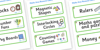 Acorn Themed Editable Maths Area Resource Labels - Themed maths resource labels, maths area resources, Label template, Resource Label, Name Labels, Editable Labels, Drawer Labels, KS1 Labels, Foundation Labels, Foundation Stage Labels, Teaching Label