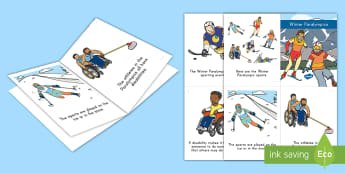 Winter Paralympics Emergent Reader - Gold Medal, Sporting event, Disabilities, Sports