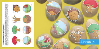 Little Acorns Story Stone Image Cut-Outs - EYFS, Twinkl Originals, Twinkl Fiction, Autumn, Seasons, Plants and Growth, Growing, seeds, acorn, o