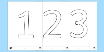 Number Outline (0-9) Colouring Pages - colouring sheet, colouring numbers, number formation, handwriting, numerals, writing numbers, counti