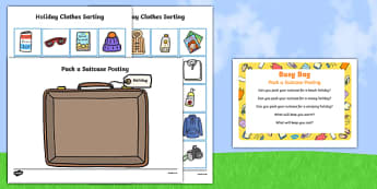 Pack a Suitcase Posting Busy Bag Prompt Card and Resource Pack