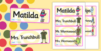 Word Cards to Support Teaching on Matilda - matilda, roald dahl, word cards, keywords