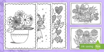 Mother's Day Mindfulness Colouring Pages English/Hindi - KS1 & KS2 Mother's Day UK (26.3.17),EAL