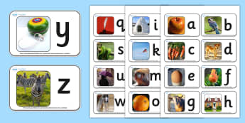 ABC Alphabet Photo Mini Flash Cards - flash cards, flash, cards, flashcards, mini flashcards, small flashcards, mini flash cards, alphabet, alphabet small flash cards, alphabet mini flashcards, flashcard, key words, images