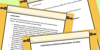P Scales Ideas for Activities for Tracking Progress P6 History
