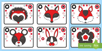 Woodland Black, White, and Red High Contrast Cards - EYFS Visual Stimulation for Babies, high contrast images for babies, newborn, infant, vision, eye de