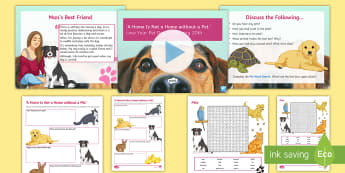 'A Home Is Not a Home without a Pet.' Debate Pack - dog, cat, fish, pet, animal, discussion, home, ks3, SMSC, Debate, Values