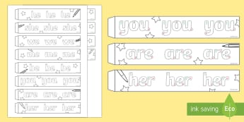 Handwriting Phase 3 Tricky Words Paper Chain Activity - tricky words, phonics, phase 3, handwriting, paper chains