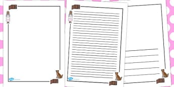 Old Mother Hubbard Page Borders - australia, page borders, story