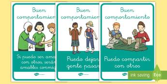 Pósters DIN A4: Buen comportamiento - póster, buen comportamiento, comportarse, amable, amabilidad, bondad, exposición, exponer, decorac