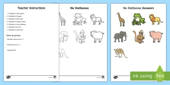 Follow the Instructions Colouring Page Gaeilge - Follow instructions, Oral Language, Gaeilge, Colours, Na dathanna,Irish