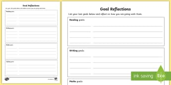 Student-Led Conference Goal Reflection Activity - reports, managing self, conferences, new zealand, progress, updates, goal setting