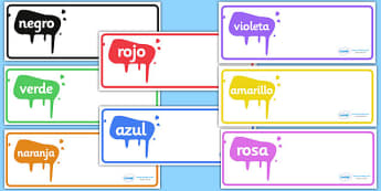 Editable Drawer - Peg - Name Labels (Spanish Colours) - Resource Labels, Spainish, Name Labels, Editable Labels, Drawer Labels, Coat Peg Labels, Peg Label, KS1 Labels, Foundation Labels, Foundation Stage Labels, Teaching Labels, Resource Labels, Tray