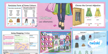 French: Going Shopping: Clothes Year 4 Lesson Pack 3 - french, languages, grammar, clothes, clothing