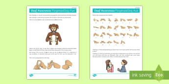 Deaf Awareness   FIngerspelling Fun (Left Handed) Activity - Deaf Awareness Week  UK (2.5.17)