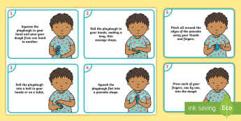 'We Love Playdough Play' Song Child Activity Cards - Playdough Play, dough disco, finger gym, fine motor skills, physical development