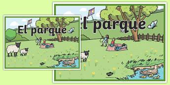 Cartel el Parque