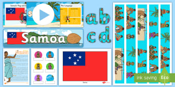 Samoa Resource Pack - Samoa, pacific islands, new zealand, social sciences, activities, display, worksheets,
