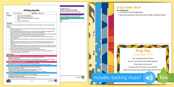Crazy Colour Torch Busy Bag Plan and Resource Pack - Light and Dark, colour, light, torch, cellophane, exploration, science, investigation