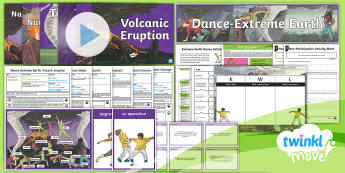 Twinkl Move - Year 3 Dance: Extreme Earth Unit Pack - Dance Extreme Earth, 6 lessons, unit, progression, pe, move