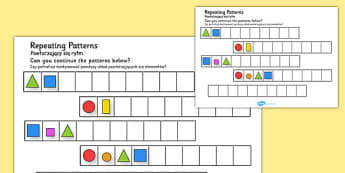 Repeating Patterns Shapes and Colours Polish Translation - polish, repeating, patterns, shape, colour