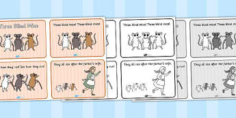 Three Blind Mice Sequencing (4 per A4) - Three Blind Mice, nursery rhyme, sequencing, rhyme, rhyming, nursery rhyme story, nursery rhymes, Three Blind Mice resources,