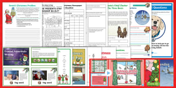 Year 4 Christmas English Bumper Resource Pack - bumper pack, xmas, father christmas, santa, christmas literacy, time fillers,  Xmas, Father Christma