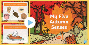 My Five Autumn Senses PowerPoint  - My Five Autumn Senses PowerPoint  - autumn, Powerpoint autumn, five senses ppt, seasons, weather, le
